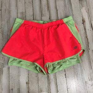 New Balance Womens Athletic Shorts Orange